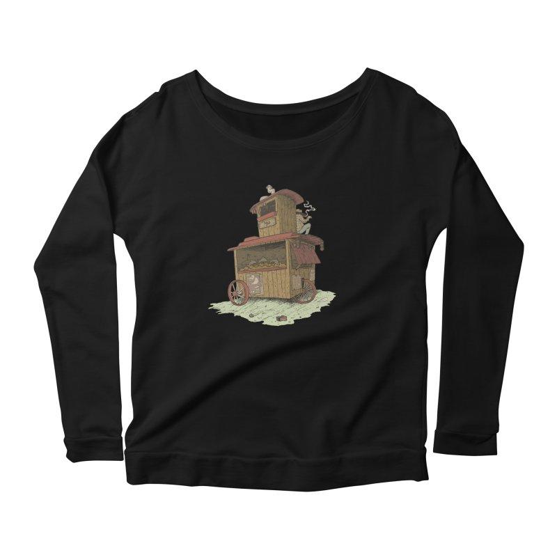wagon Women's Scoop Neck Longsleeve T-Shirt by zonka's Artist Shop