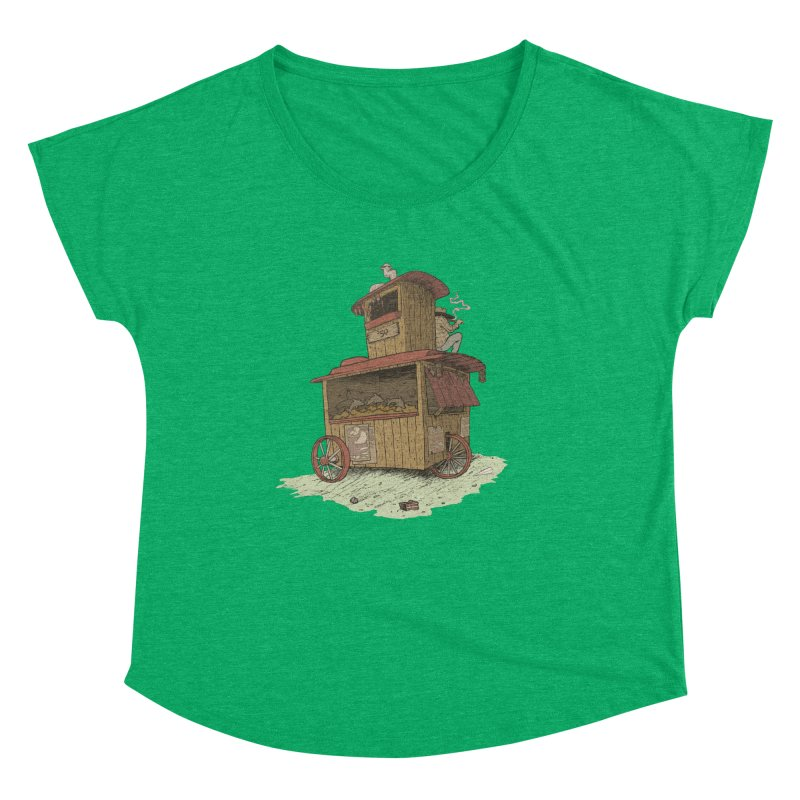 wagon Women's Scoop Neck by Aaron Zonka's Artist Shop