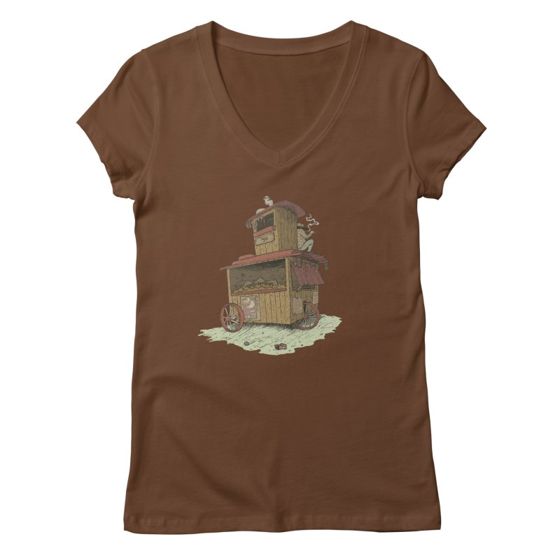 wagon Women's Regular V-Neck by zonka's Artist Shop