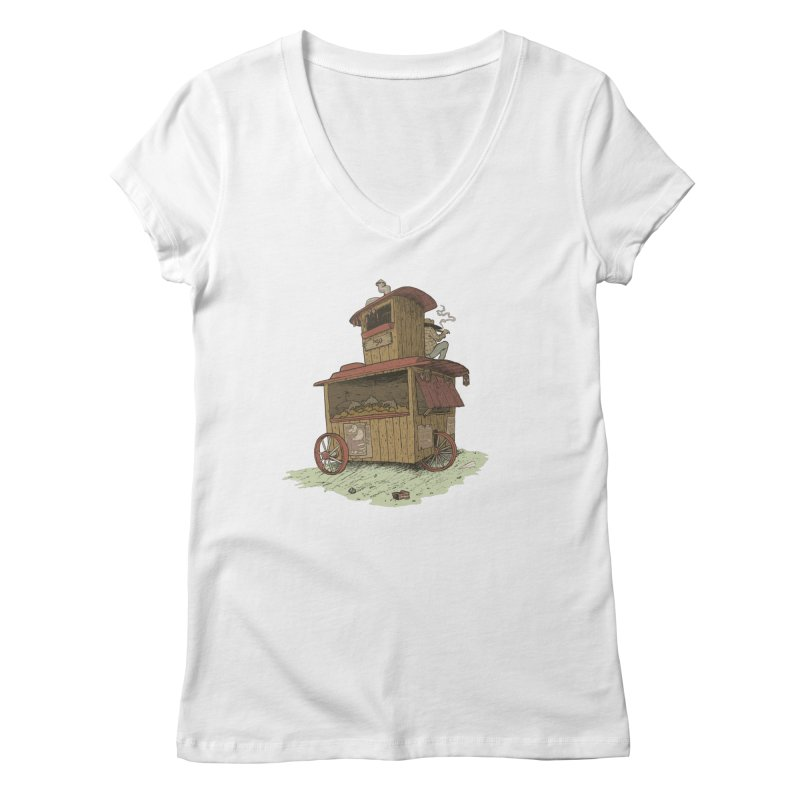 wagon Women's V-Neck by zonka's Artist Shop