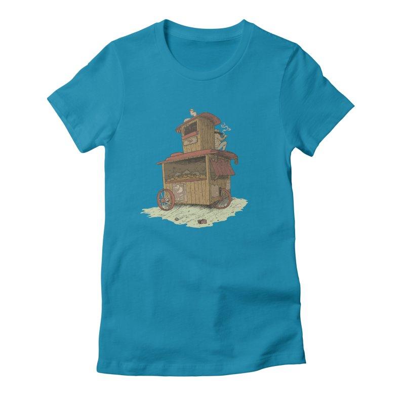 wagon Women's T-Shirt by Aaron Zonka's Artist Shop