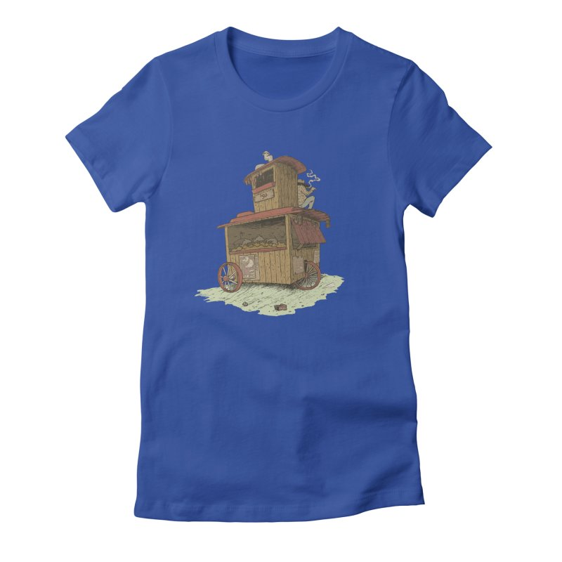 wagon Women's Fitted T-Shirt by zonka's Artist Shop
