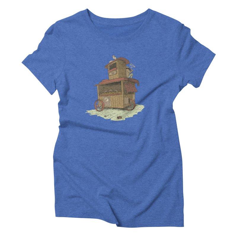 wagon Women's Triblend T-Shirt by zonka's Artist Shop