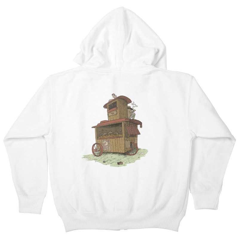 wagon Kids Zip-Up Hoody by zonka's Artist Shop