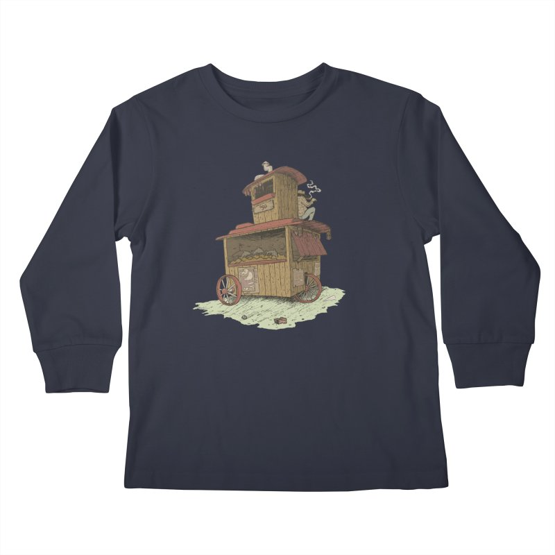 wagon Kids Longsleeve T-Shirt by Aaron Zonka's Artist Shop