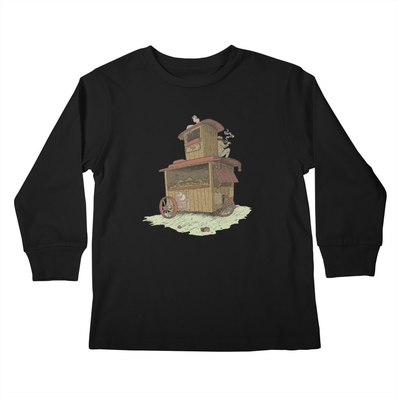 wagon Kids Longsleeve T-Shirt by zonka's Artist Shop