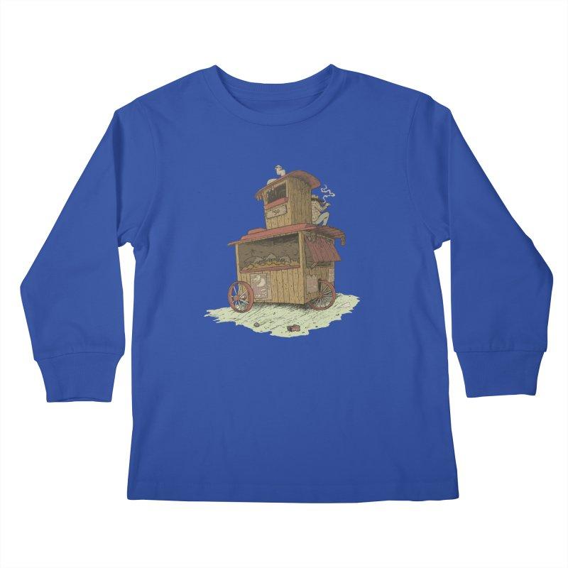 wagon Kids Longsleeve T-Shirt by zonka's Artist Shop