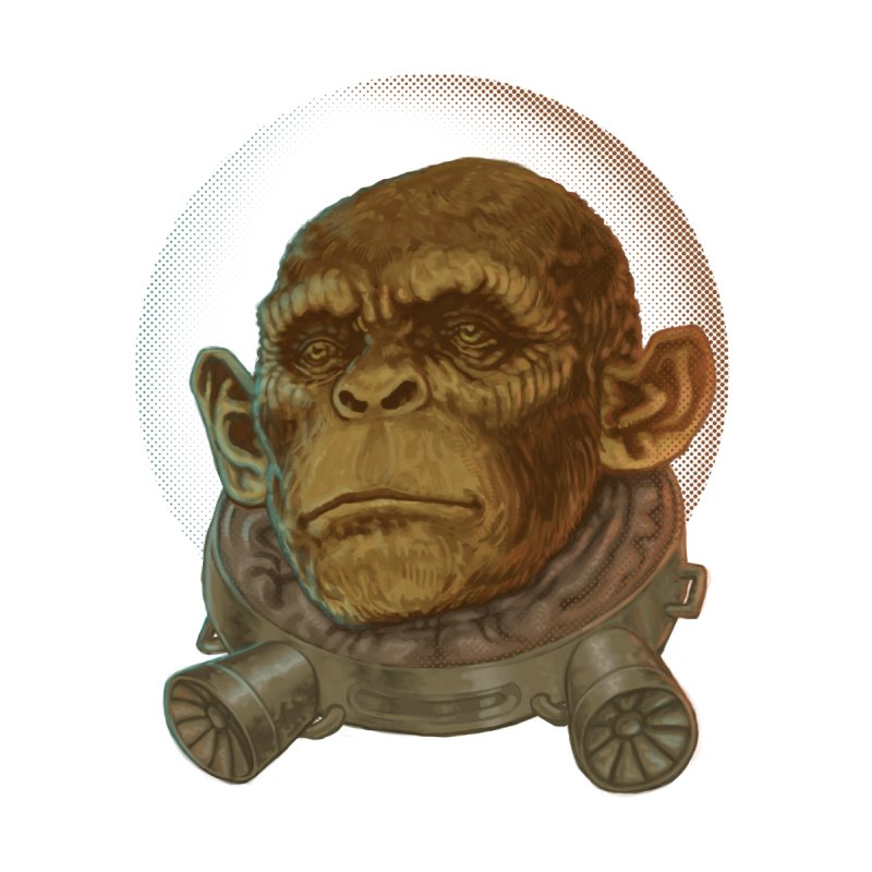 Space ape Men's Longsleeve T-Shirt by Aaron Zonka's Artist Shop