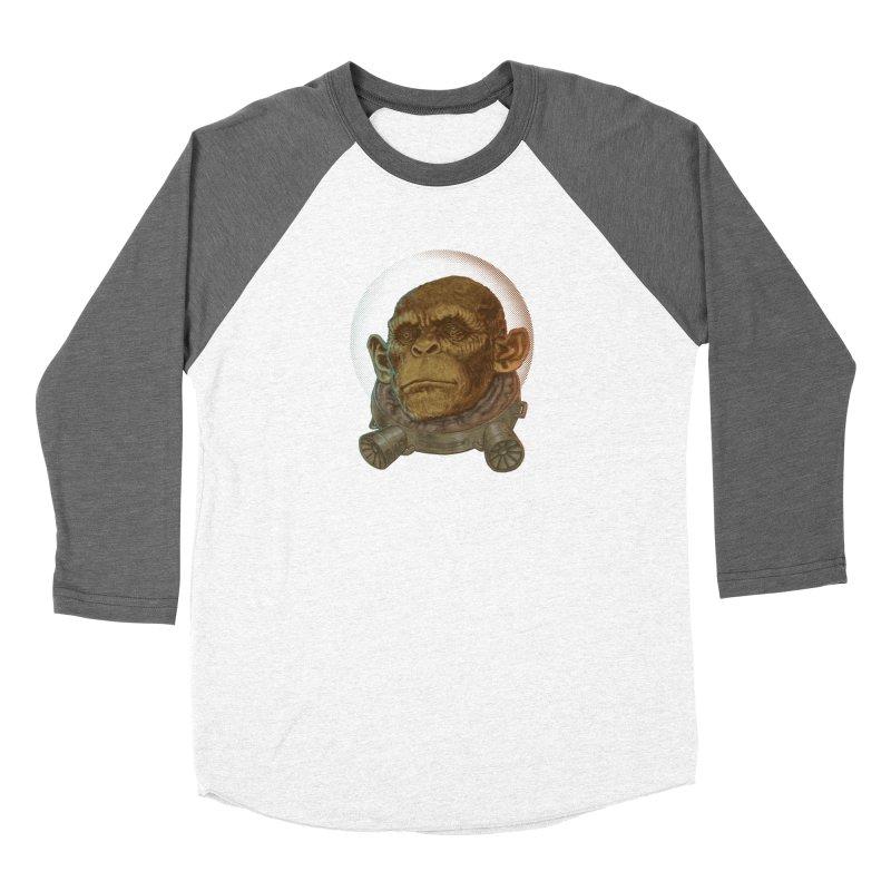Space ape Men's Baseball Triblend Longsleeve T-Shirt by zonka's Artist Shop