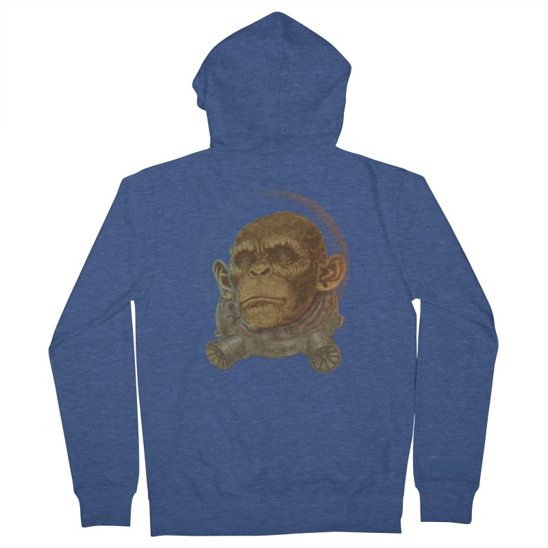 Space ape Men's French Terry Zip-Up Hoody by zonka's Artist Shop