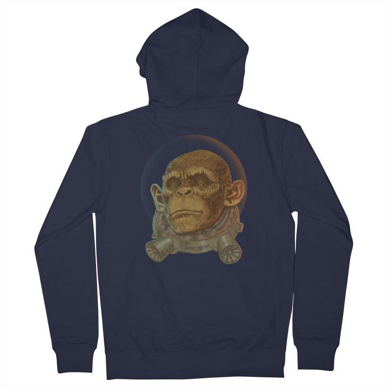 Space ape Men's Zip-Up Hoody by zonka's Artist Shop