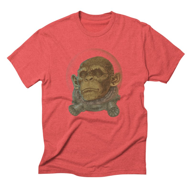 Space ape Men's Triblend T-Shirt by zonka's Artist Shop