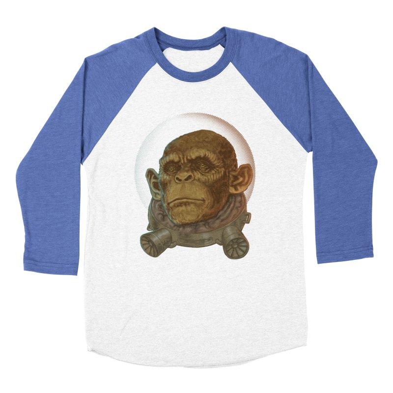 Space ape Men's Baseball Triblend T-Shirt by zonka's Artist Shop