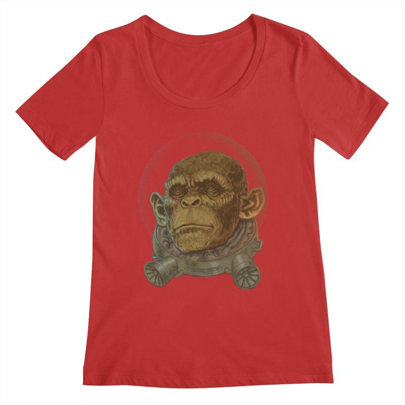 Space ape Women's Regular Scoop Neck by zonka's Artist Shop