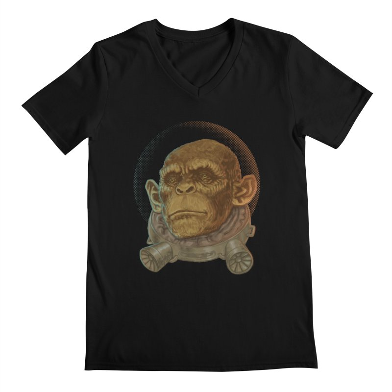 Space ape Men's Regular V-Neck by zonka's Artist Shop