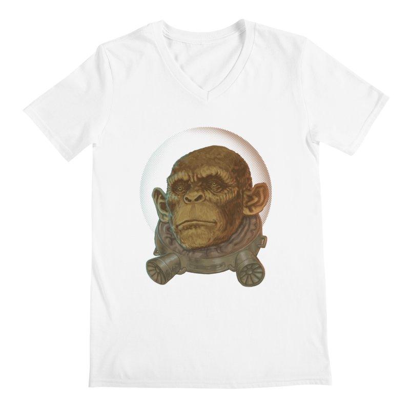 Space ape Men's Regular V-Neck by zonka's Artist Shop