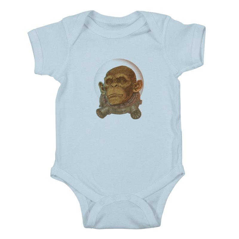 Space ape Kids Baby Bodysuit by zonka's Artist Shop