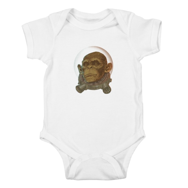 Space ape Kids Baby Bodysuit by zonka's Artist Shop