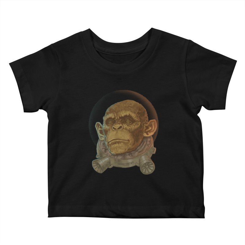 Space ape Kids Baby T-Shirt by Aaron Zonka's Artist Shop