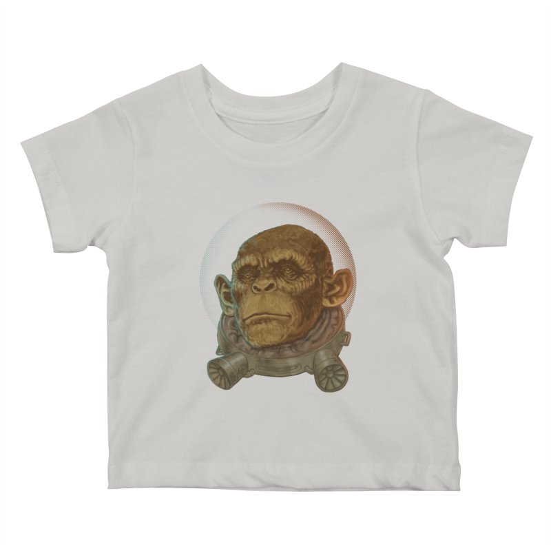Space ape Kids Baby T-Shirt by zonka's Artist Shop