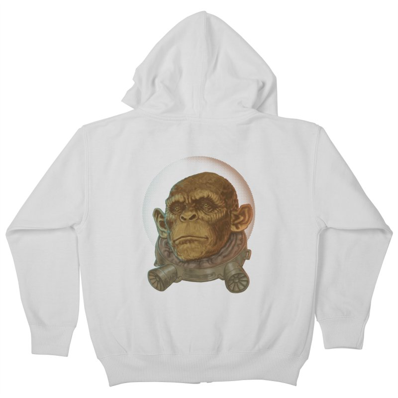 Space ape Kids Zip-Up Hoody by zonka's Artist Shop
