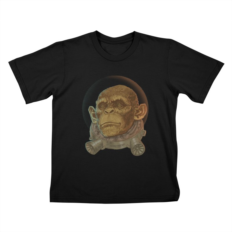 Space ape Kids T-shirt by zonka's Artist Shop