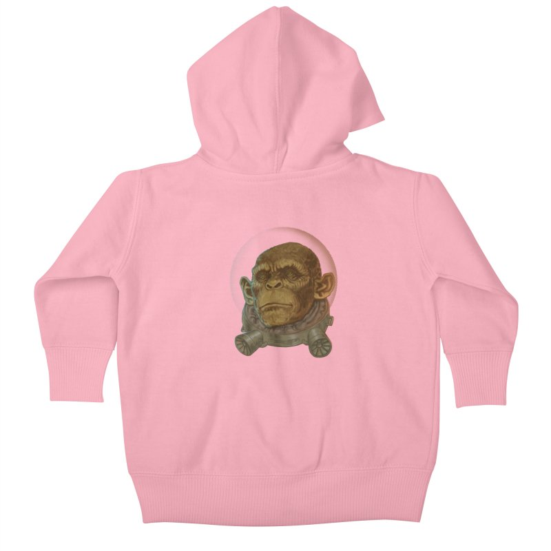 Space ape Kids Baby Zip-Up Hoody by zonka's Artist Shop