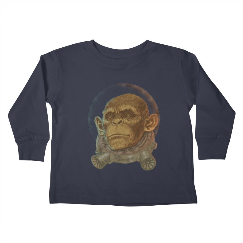 Space ape Kids Toddler Longsleeve T-Shirt by zonka's Artist Shop
