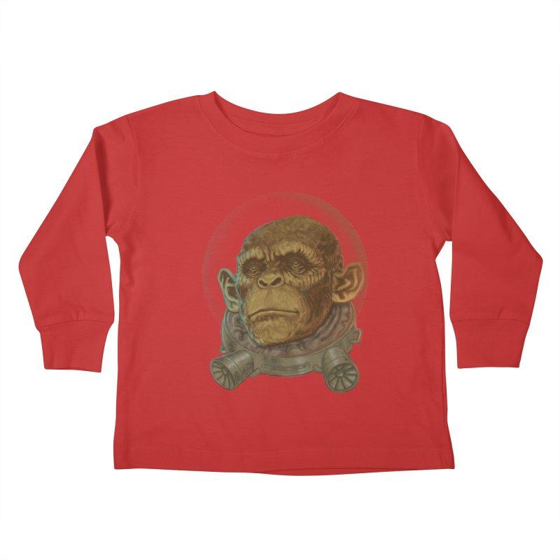 Space ape Kids Toddler Longsleeve T-Shirt by Aaron Zonka's Artist Shop