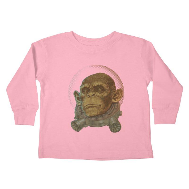 Space ape Kids Toddler Longsleeve T-Shirt by zonka's Artist Shop