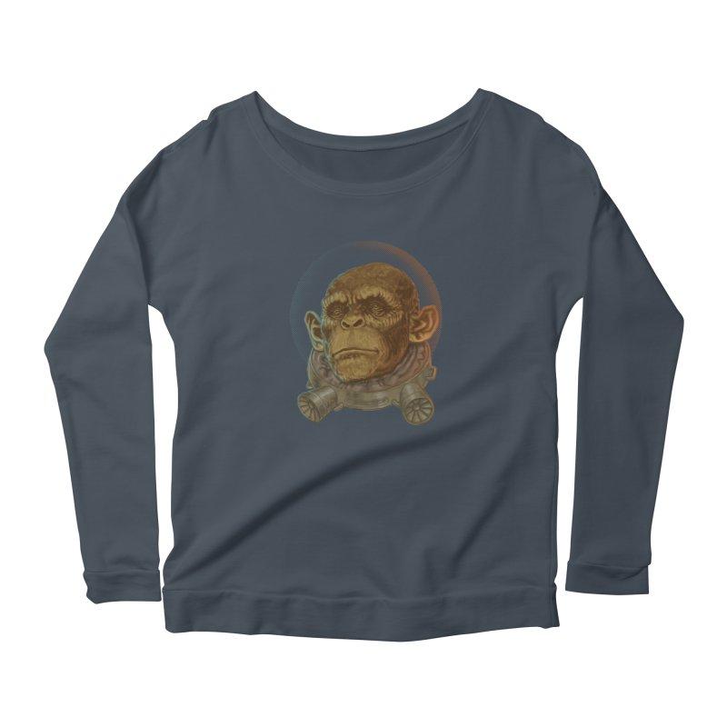 Space ape Women's Longsleeve T-Shirt by zonka's Artist Shop