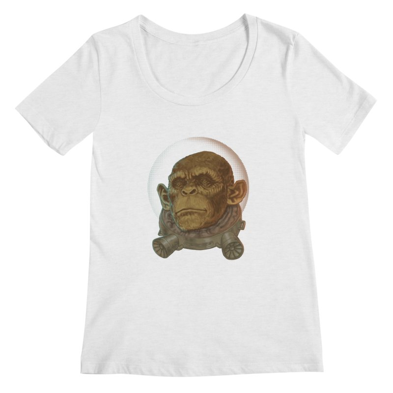 Space ape Women's Scoopneck by zonka's Artist Shop