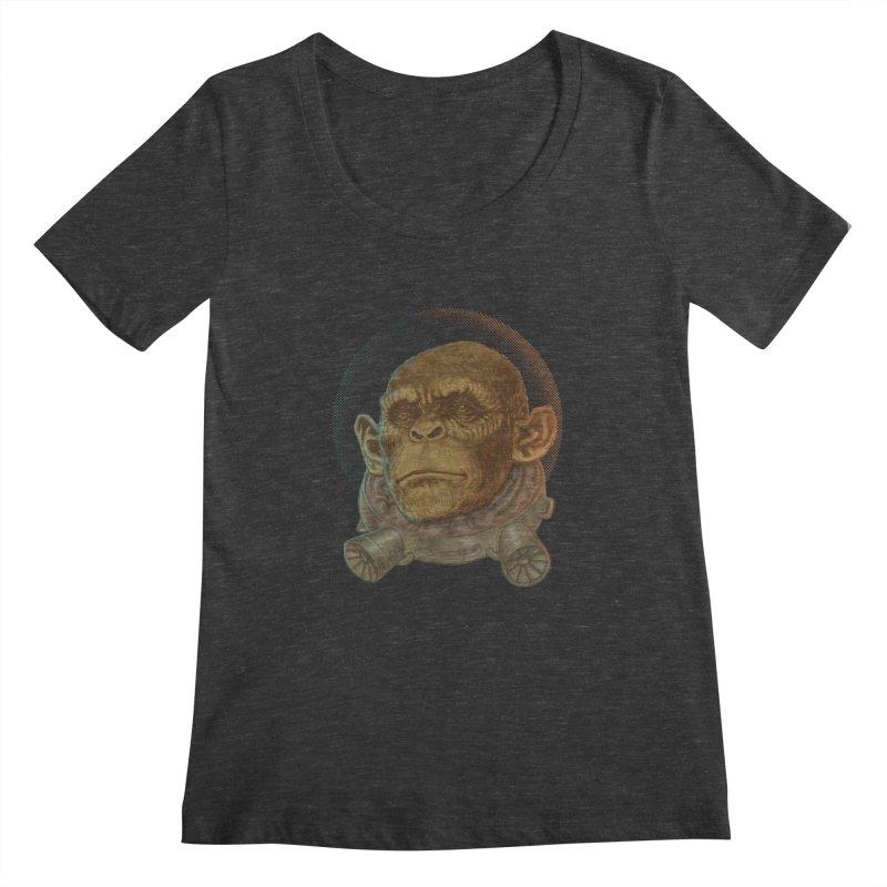 Space ape Women's Scoopneck by zonka's Artist Shop