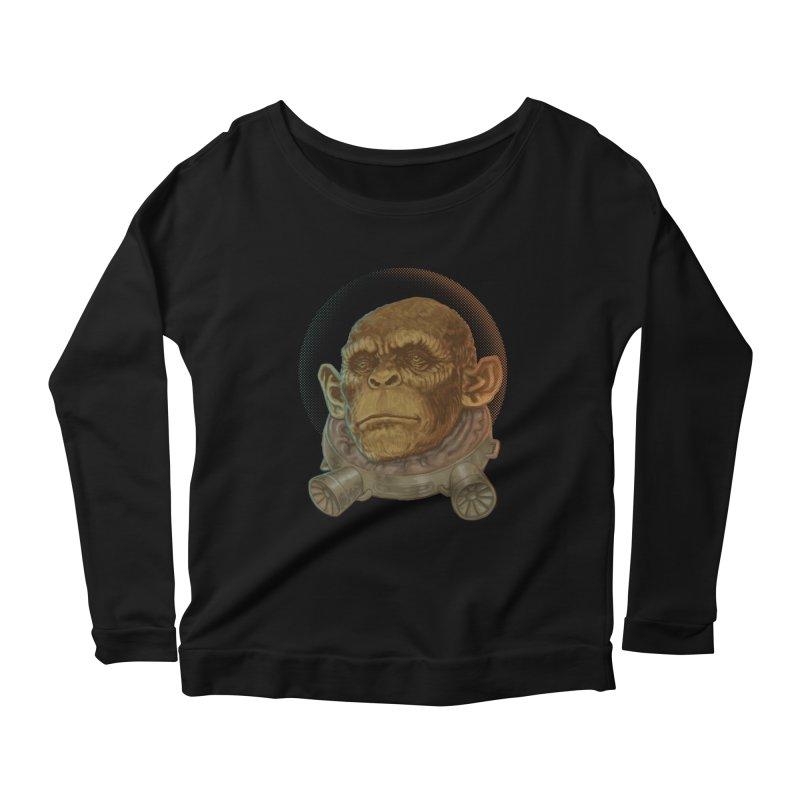 Space ape Women's Scoop Neck Longsleeve T-Shirt by zonka's Artist Shop
