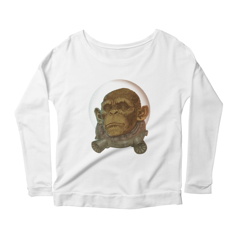 Space ape Women's Scoop Neck Longsleeve T-Shirt by zonka's Artist Shop