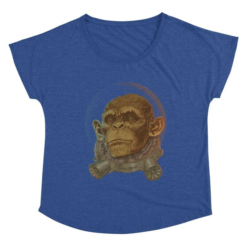 Space ape Women's Dolman Scoop Neck by zonka's Artist Shop