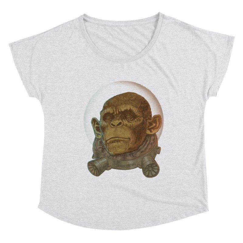 Space ape Women's Scoop Neck by Aaron Zonka's Artist Shop