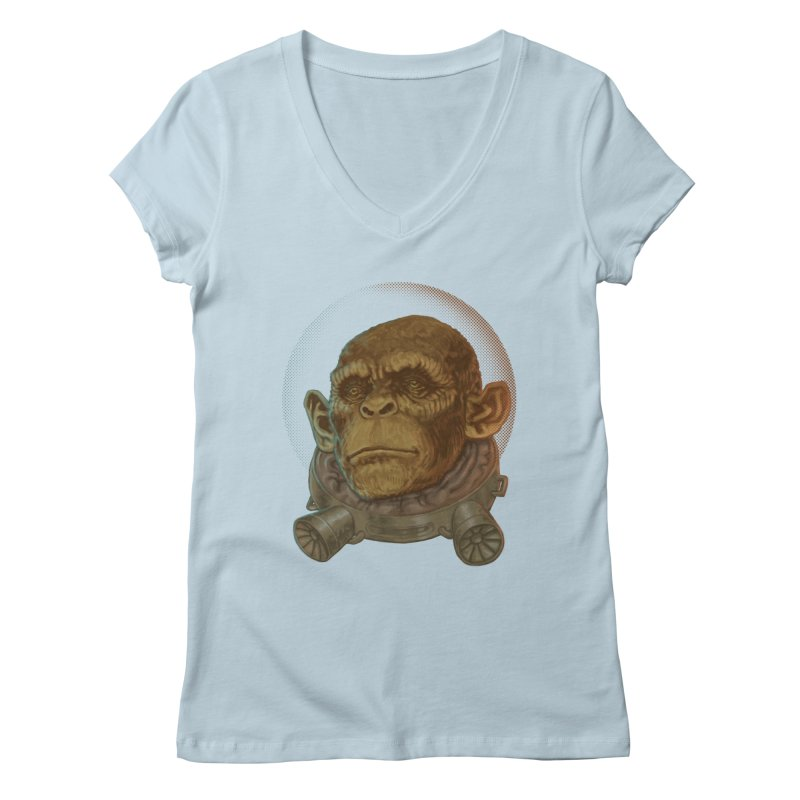 Space ape Women's V-Neck by zonka's Artist Shop