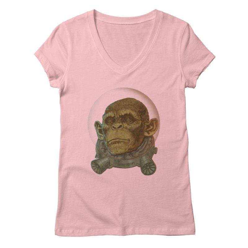Space ape Women's V-Neck by Aaron Zonka's Artist Shop