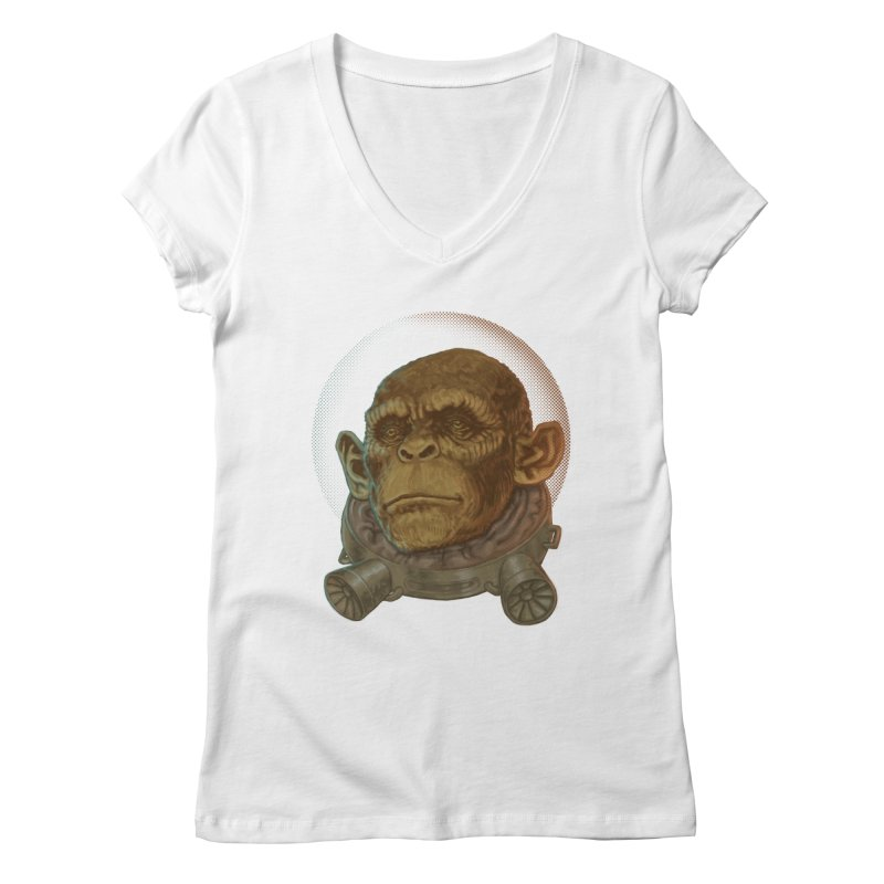 Space ape Women's Regular V-Neck by zonka's Artist Shop