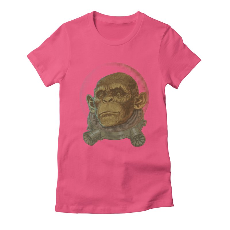 Space ape Women's Fitted T-Shirt by zonka's Artist Shop