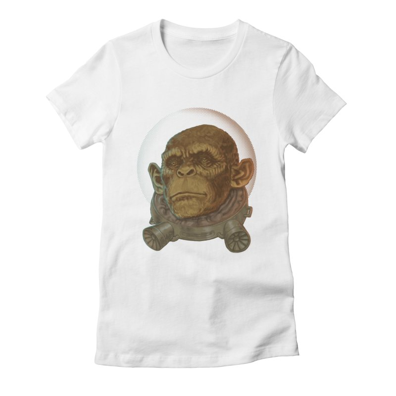 Space ape Women's T-Shirt by Aaron Zonka's Artist Shop
