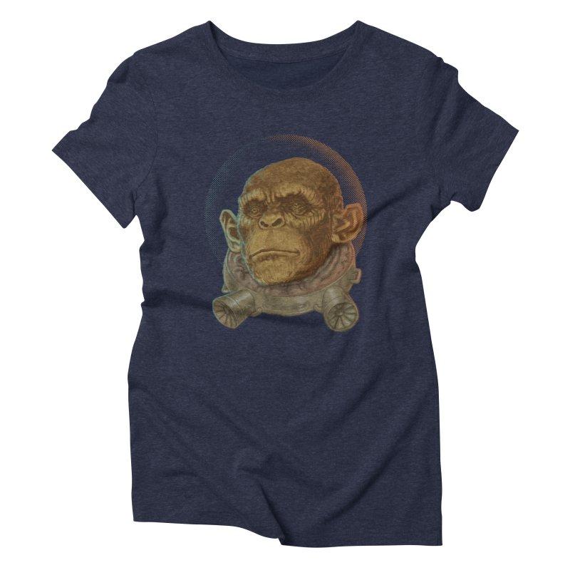 Space ape Women's Triblend T-shirt by zonka's Artist Shop