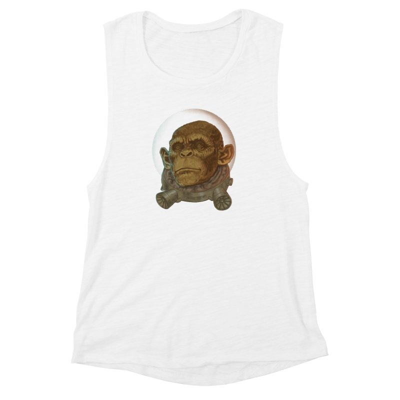 Space ape Women's Muscle Tank by zonka's Artist Shop