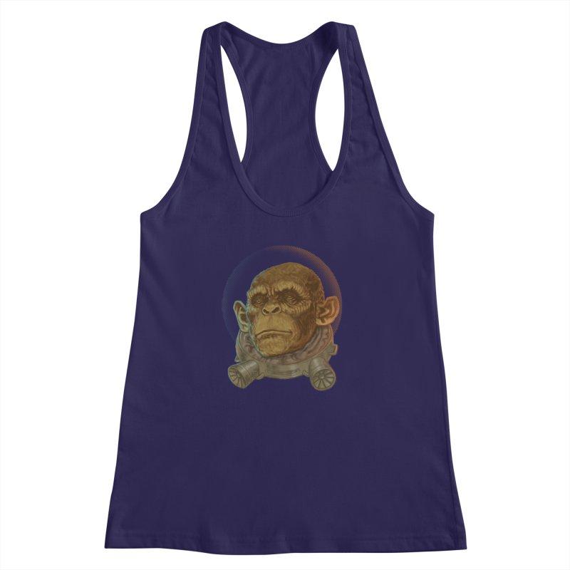 Space ape Women's Racerback Tank by zonka's Artist Shop