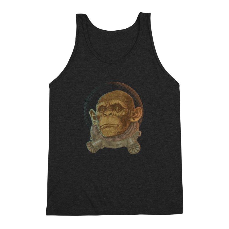 Space ape Men's Triblend Tank by zonka's Artist Shop