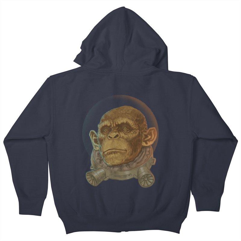 Space ape Kids Zip-Up Hoody by zonka's Artist Shop