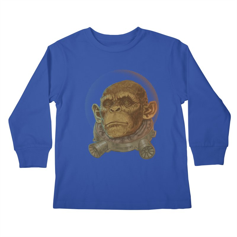 Space ape Kids Longsleeve T-Shirt by zonka's Artist Shop