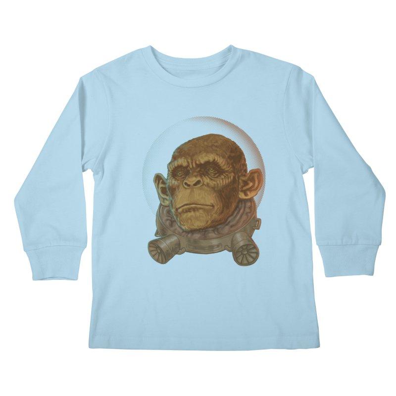 Space ape Kids Longsleeve T-Shirt by zonka's Artist Shop