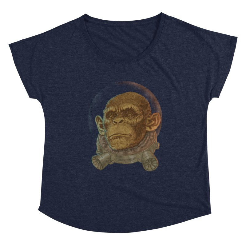 Space ape Women's Scoop Neck by Aaron Zonka's Artist Shop